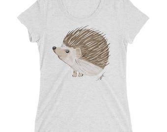 Hedgehog Ladies' tri-blend short sleeve t-shirt | Hedgehog Women's Shirt | Hedgehog Gift | Hedgehog Shirt | Hedgehog T-Shirt