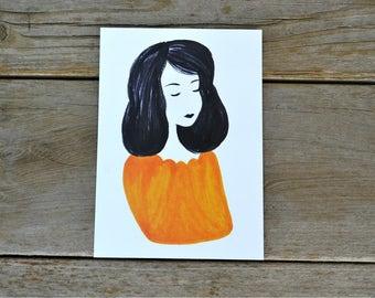 Orange & Black Print - 5X7