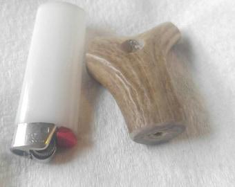 handmade deer antler pipe