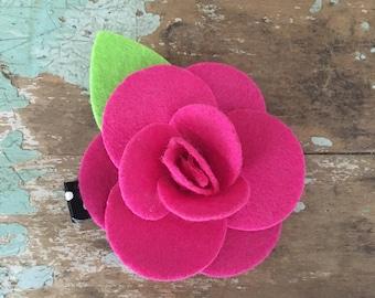 Rose flower hair clip set