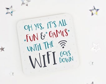 Funny geek coaster gift  - teen gift - desk coaster - gift for son - office present - daughter gift - fun present - techy gift - gadget gift