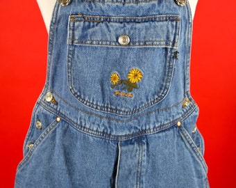 Skirt in Front Shorts in the Back Denim Overalls made by Jordache
