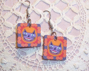 Ghoulish Cat Earrings - Pierced