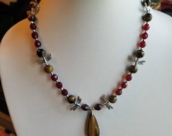 Eye of the Feline Goddesses - Short Drop Pendant Necklace