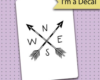 Bullet Journal Decal - Arrow Compass Decal for Bullet Journals - Bullet Journal - Planner gift