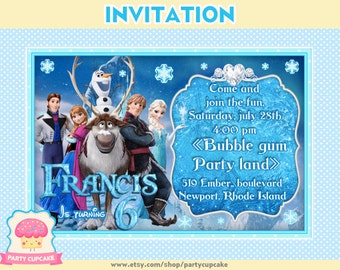 80% OFF SALE Invitation Frozen - Custom Invitation - PDF File - High Resolution - Holiday Party