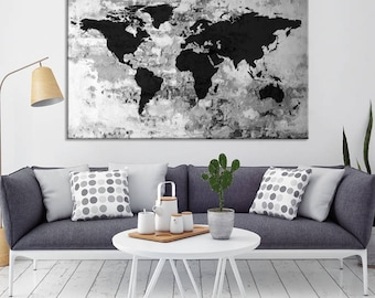 Black world map etsy gumiabroncs Gallery