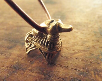 Viking inspired bronze pendant Deer