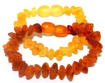 Raw NATURAL BALTIC AMBER Baby Teething  Bracelets or Anklets