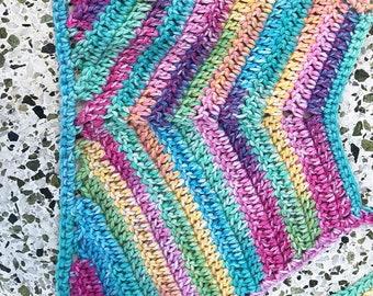 Multi-Colored Tie Halter Top
