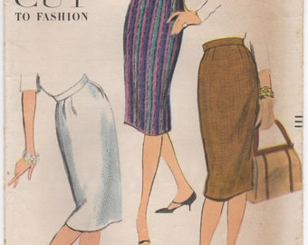"1960's Vogue Pencil Skirt - Waist 28"" - No. 9593"