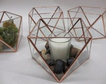 Larger Glass Terrarium Votive Holder or Treasure Keeper