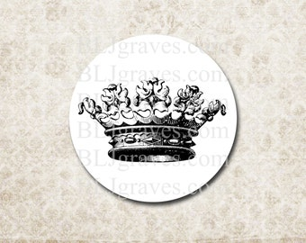 Crown Stickers - Princess Prince Royal Party Favor Treat Bag Stickers SP052