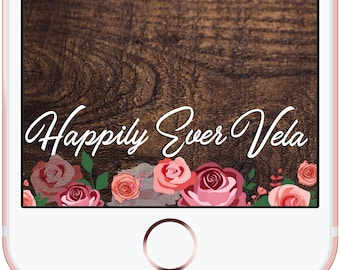 Engagement Wedding Proposal Birthday Roses Flowers Floral Snapchat Filter