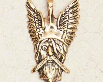Viking Warrior Head-Bronze-Pendant
