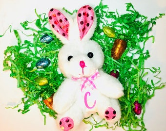 Easter bunny stuffed animal, Easter bunny egg, Easter bunny personalized bunny, Easter gift