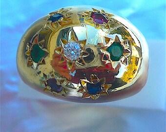 Multistone Ring in 18 carat gold