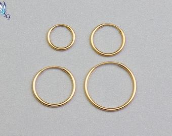 Endless Hoop Earrings, Hoop Earrings, Gold Hoop Earrings, Endless Gold Hoop, Wire Hoop Earrings, Wire Hoops, Classic Hoop Earrings, GFER107