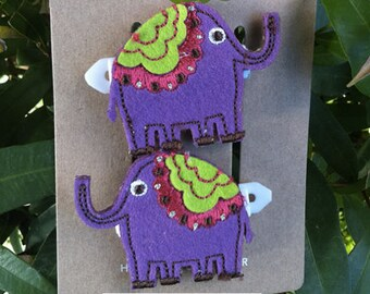 Girls Dancing Elephants Hair Clips