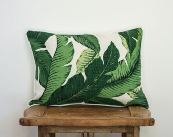 Tommy Bahama swaying palm print cushion pillow cover 45 x 30 cm rectangle
