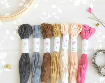 "Embroidery Floss ""Portrait Pallete"" - 7 Skeins Pack - Embroidery Thread by Sublime - Sublime Stitching - Embroidery Floss - Cotton Floss"