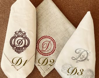 Personalized linen napkins