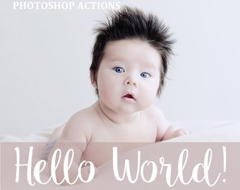 70 Newborn Photoshop Actions - Newborn Retouch - Baby Pastel Actions - Newborn Workflow - Baby Photoshop Effects - Children Actions Set
