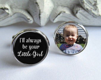 Custom Photo Cufflinks, Father of the Bride Gift, Cufflinks For Dad