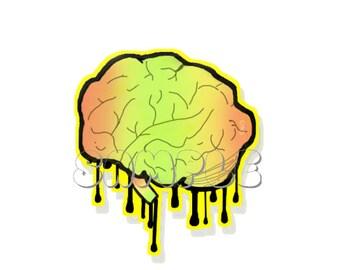 Technicolor Mind Glossy Sticker