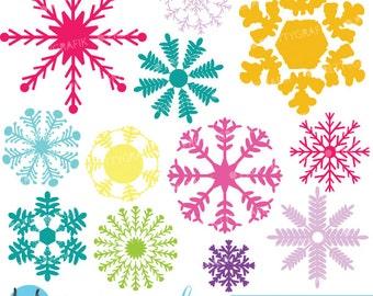 80% 0FF SALE Snowflakes clipart commercial use, vector graphics, digital clip art, digital images  - CL593