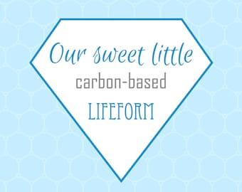 Nursery Prints, Printable Wall Art, Carbon-based Lifeform, Digital Prints, Blue Print, Science Print, Nerd Print, Geek Print, Printable Art