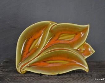 Retro Orange Leaf Dish