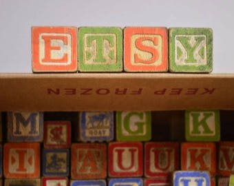 Wooden Blocks Variety of Shapes and Sizes 55 Big 6 Small Mickey Mouse Alphabet Numerical Learning Tools Collectors Item