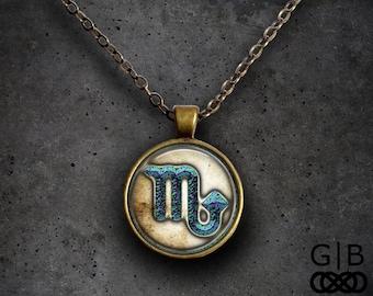 Scorpio Zodiac Necklace Mars Scorpio Astrology Necklace - Scorpio Astrology Pendant Jewelry - Scorpio Horoscope Necklace Scorpio Jewelry