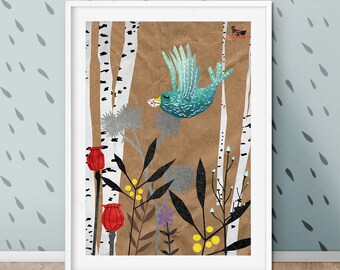 Veronika Vogel, poster, A2, A3, Children's room, print, Deco, wall decoration