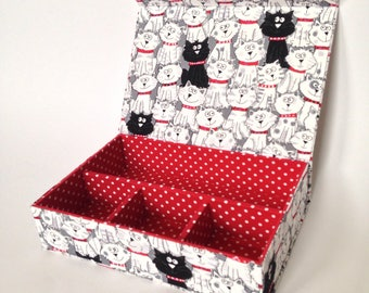 Lovely Kittens Handmade Organiser (Fabric Covered)