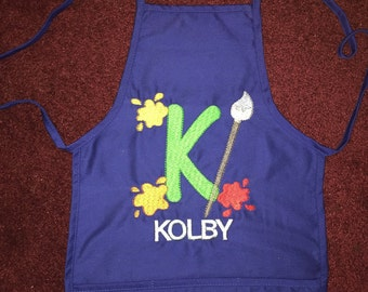 Personalized Painters apron with 3 pockets. Will be customized to your liking.