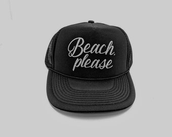 Beach Please trucker hat, Trucker Hat, mom life Hat, Black Hats & Caps, Mom Hat, Mama glitter hat, Baseball cap