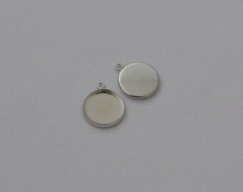 10 support disk ring 14mm Platinum - Ref: SPP 604
