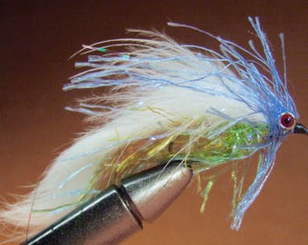 Hand-Tied Trout Flies:  Red-Eyed Technicolor Streamer – Size 4