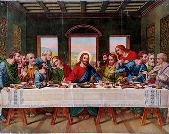 Antique Lord's Supper Chromolithograph