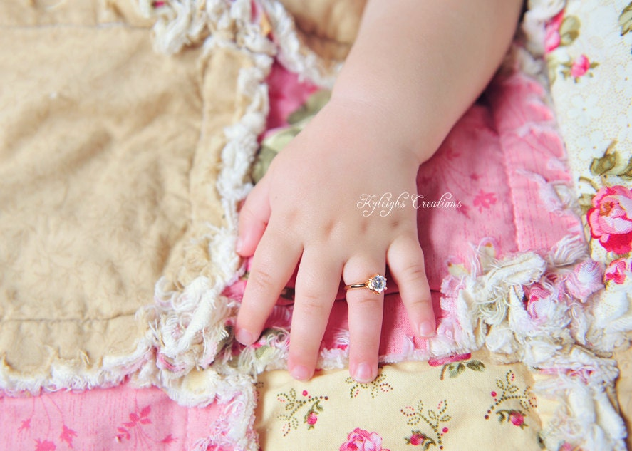 8 12 Month ROSE GOLD baby ring baby ring baby jewelry rose