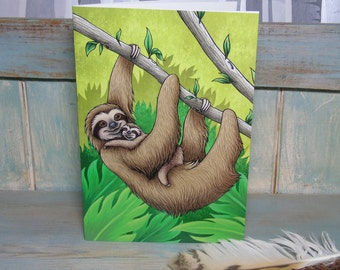 A5 Sloths Illustration Journal ~ Notebook with 48 Lined Pages