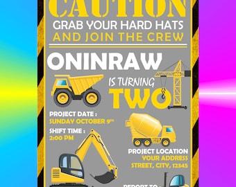 Construction invites Etsy