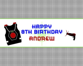Laser tag birthday party candy bar wrapper Laser Tag