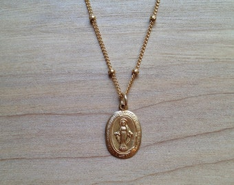 Virgin Mary Charm Necklace