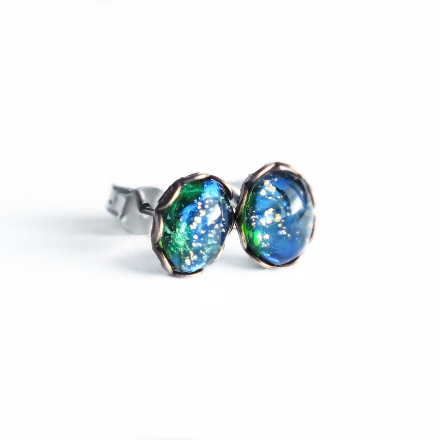 earrings stone blue op stud avnis opal collections earings genuine