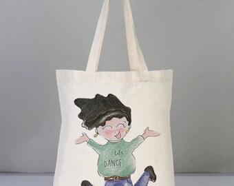 Lets dance / canvas shoulder bag