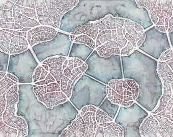 """Print - """"Aorta Isles (Cityspace #210)"""""""