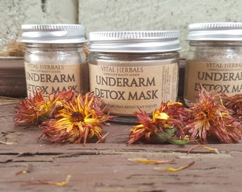 underarm detox mask - herbal underarm mask - armpit mask - armpit detox - clay mask - organic deodorant - herbal deodorant